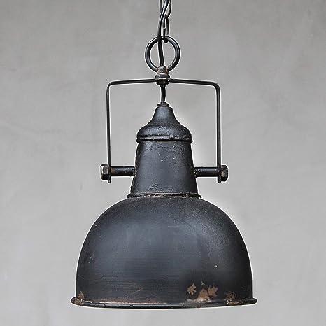 Chic Antique Vintage Lampe Rost Factory Industrielampe Deko Wohnzimmer  Schwarz Metall patiniert E27 Hängeleuchte Retro Deckenlampe Esszimmer ...