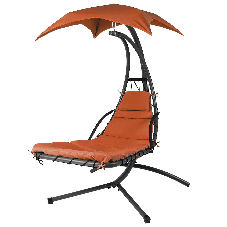 amazon com orange color handing chair garden outdoor