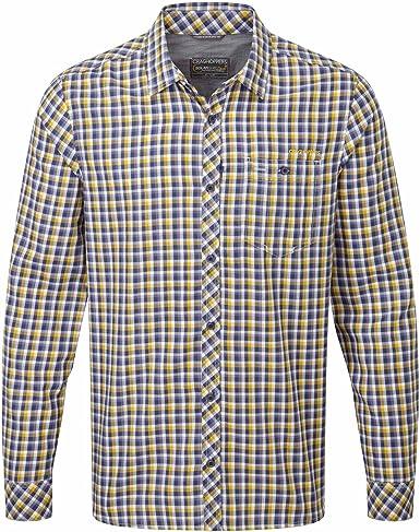 Craghoppers - Camisa para Hombre (Manga Corta), Camiseta, Hombre, Color Azul - Dusk Blue Charcoal, tamaño XXL: Amazon.es: Ropa y accesorios