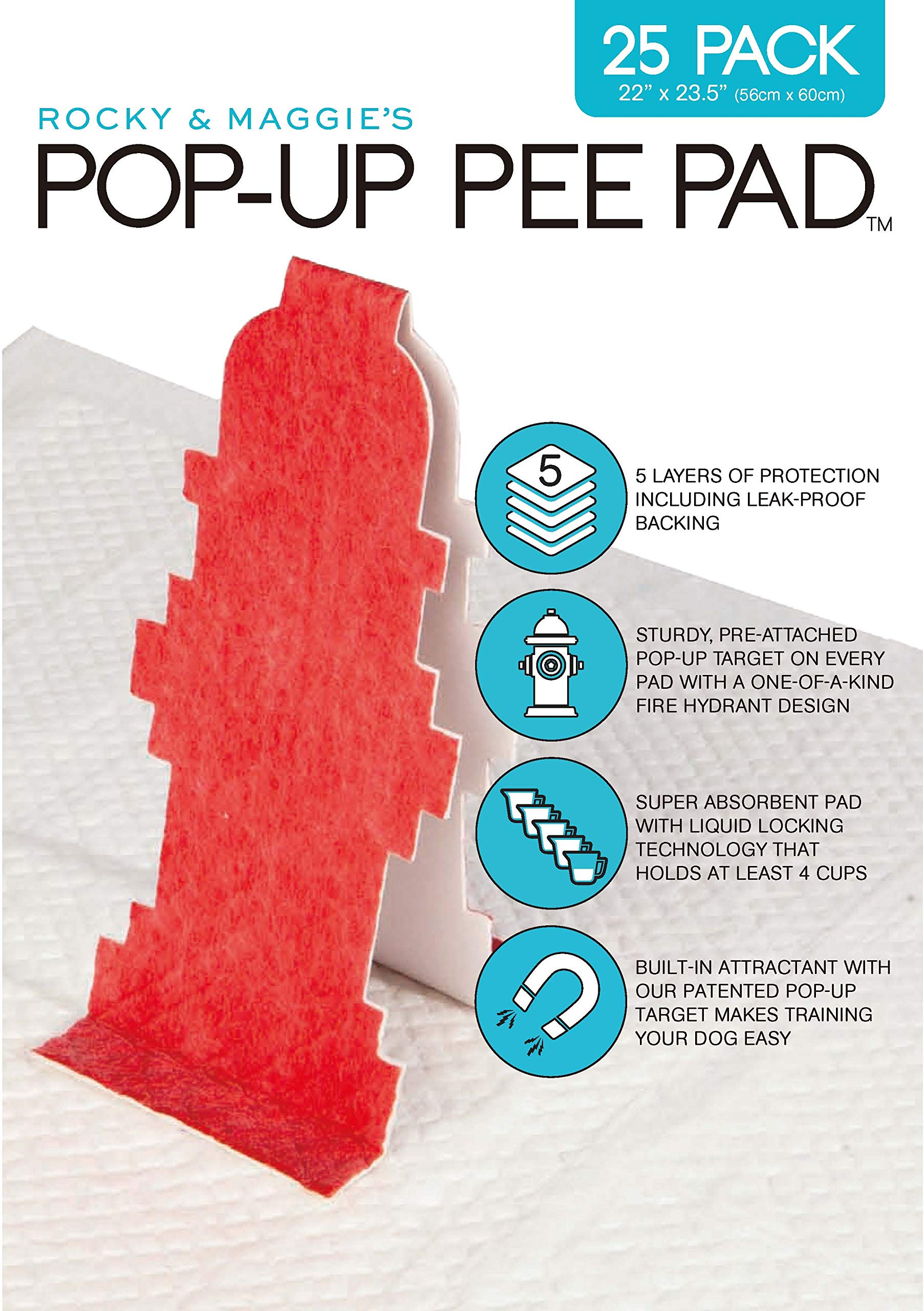 dog supplies online pop-up pee pad, 25 pads/box