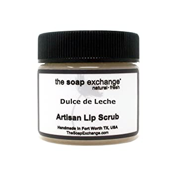 The Soap Exchange Lip Scrub - Dulce de Leche Flavor - Hand Crafted 1.5 oz /