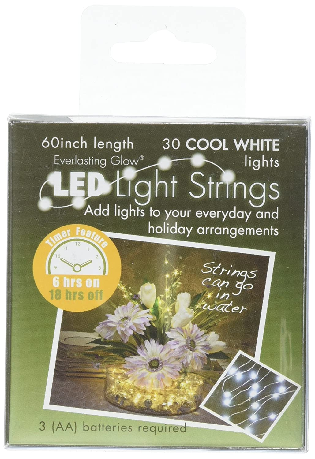 Amazoncom Everlasting Glow LED Micro LED Light String 30 White