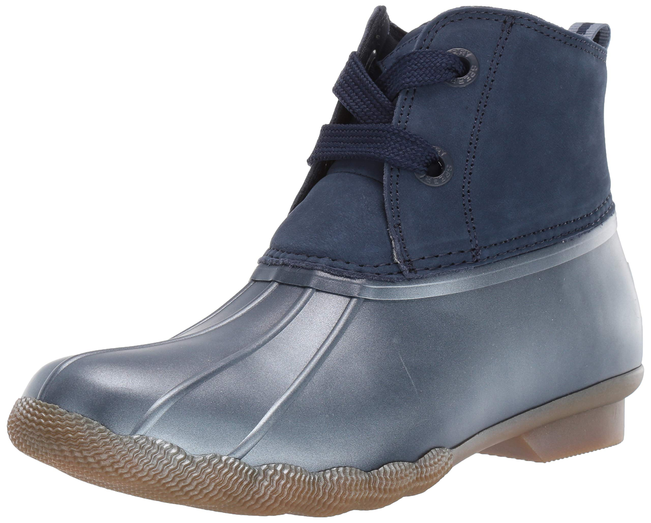 SPERRY Women's Saltwater 2-Eye Nubuck Snow Boot, Navy, 9 M US by SPERRY