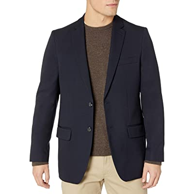 Haggar Clothing Men's Tailored Fit In Motion Blazer at Amazon Men's Clothing store