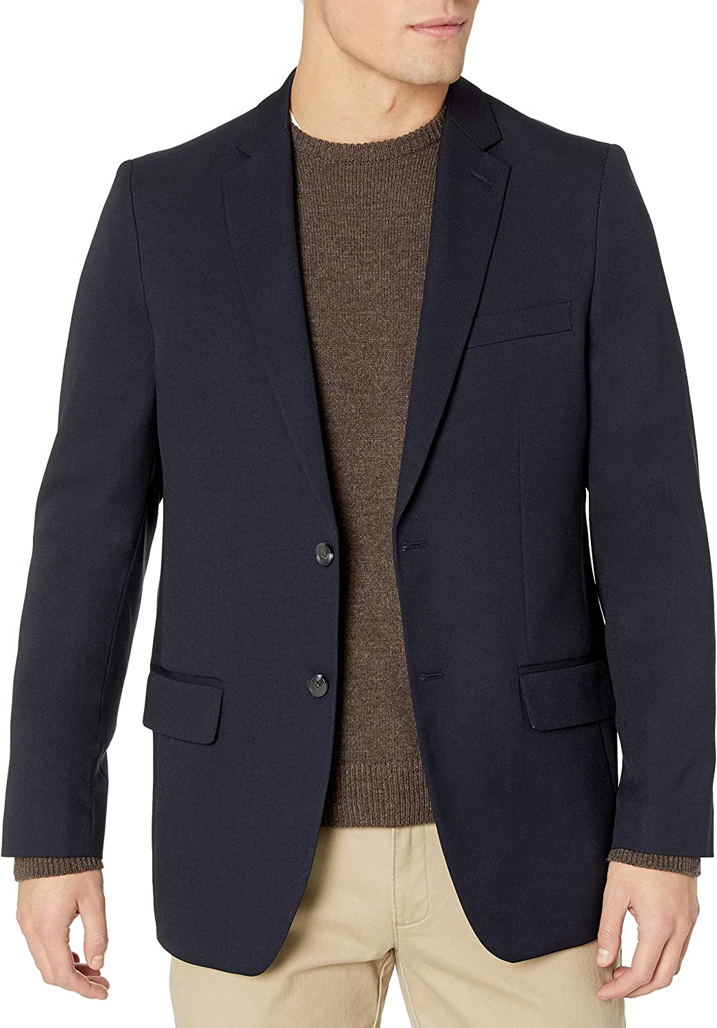 Haggar Clothing Men's Tailored Fit In Motion Blazer at  Men's Clothing store
