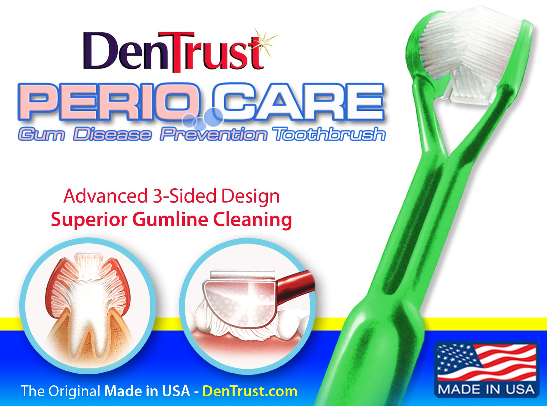 Amazon Dentrust 3 Sided Perio Care Toothbrush Periodontal