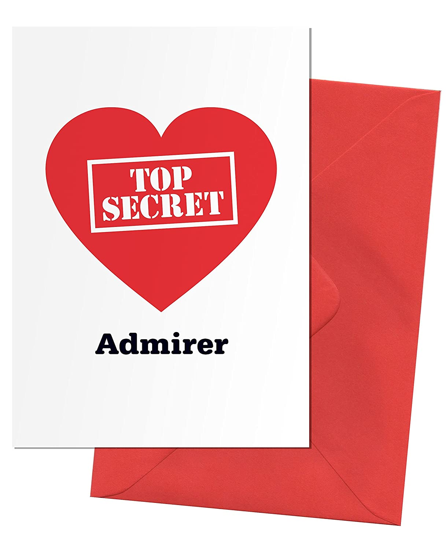 Adult valentine greeting card think