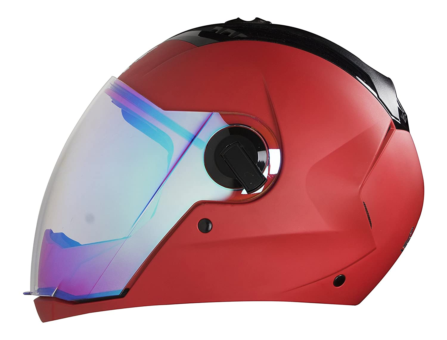 4a2aedba Steelbird SBA-2 Full Face Helmet with Blue Visor (Sports Red, Large):  Amazon.in: Car & Motorbike