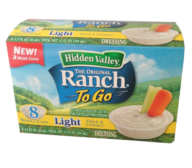 Hidden Valley Ranch Light Ranch Dressing To-Go Cups