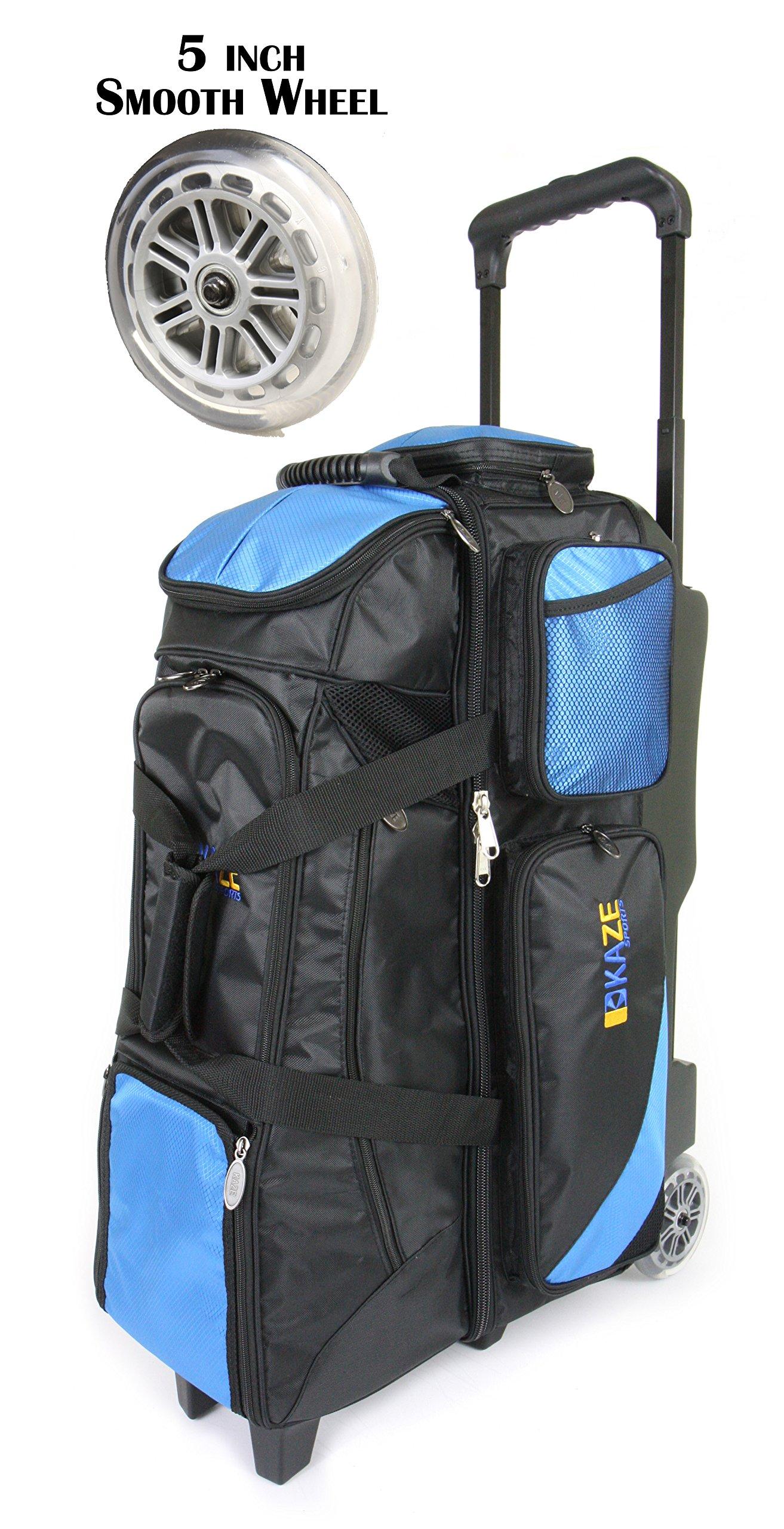KAZE SPORTS 4 Ball Bowling Roller (Blue-Black)