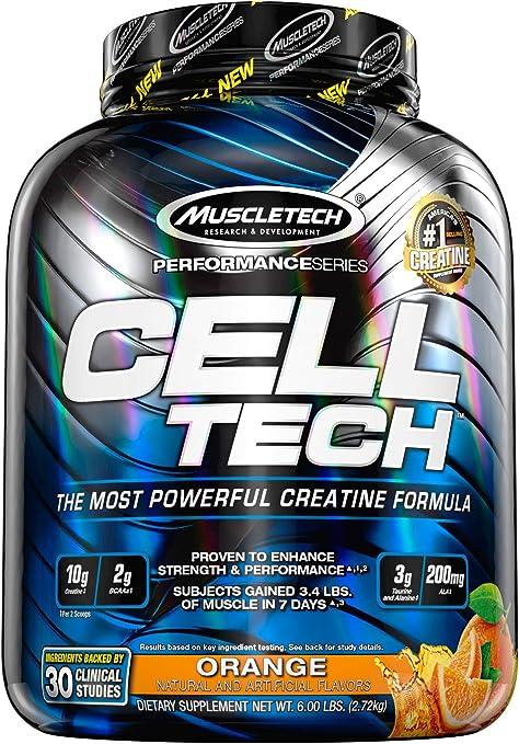 Muscletech Cell Tech Performance Sabor Naranja - 2700 gr
