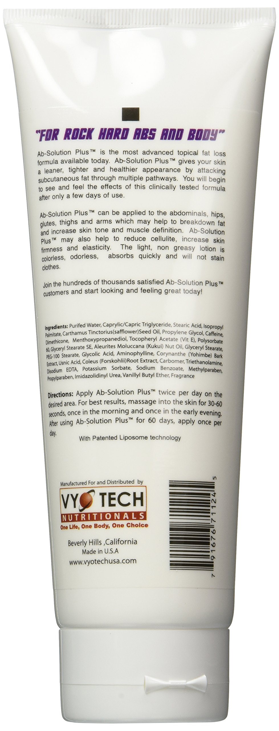 Ab-solution Plus, Vyotech, Topical Ab Solution Fat Loss Formula 8oz (3 Pack) by VyoTech (Image #2)