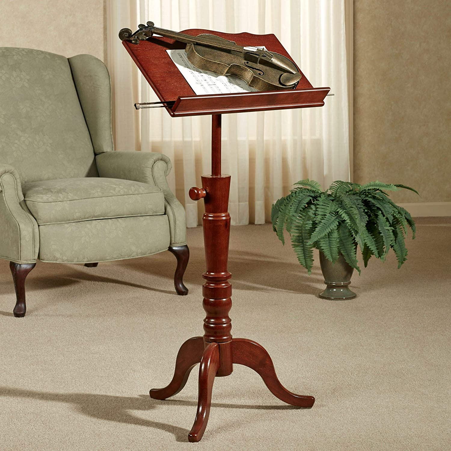 Touch of Class Aubrie Music Stand Adjustable Classic Cherry One Size