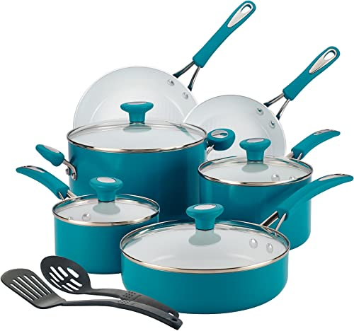 SilverStone 16048 Ceramic Nonstick Cookware Pots and Pans Set,