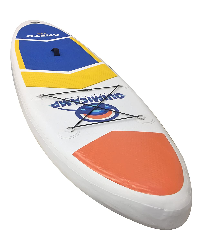 QUIMICAMP - Tabla de Paddle Surf hinchable, 15cm de espesor, incluye remo, bolsa de transporte, hinchador y kit de preparación/reparación: Amazon.es: ...