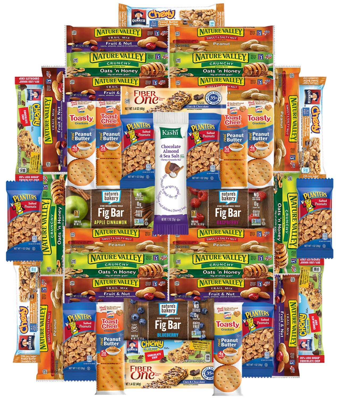 Snacks Generation - Healthy Bars & Snacks Variety Pack Bulk Assortment (36 Count) by Snacks Generation