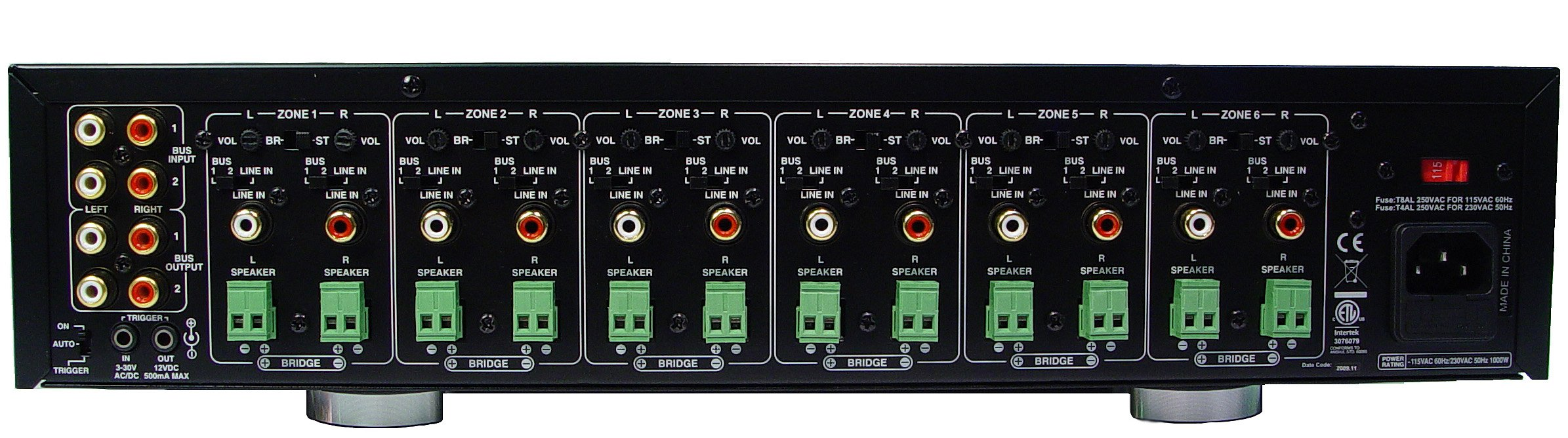AudioSource AMP 1200 12-Channel Audio Distribution Amplifier (Black) by Audiosource
