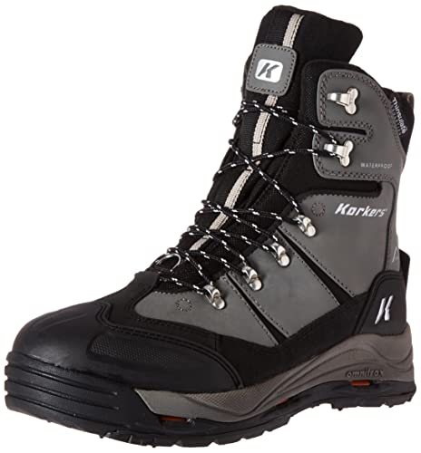 Korkers Footwear Men's Snowjack Insulated Winter Boot,Gun Metal,8 ...
