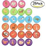 Willingood Stempelset Tiere, 26 Stück, Niedliche Spielzeugstempel aus Plastik für Spiel, Spaß, Hobby und mehr