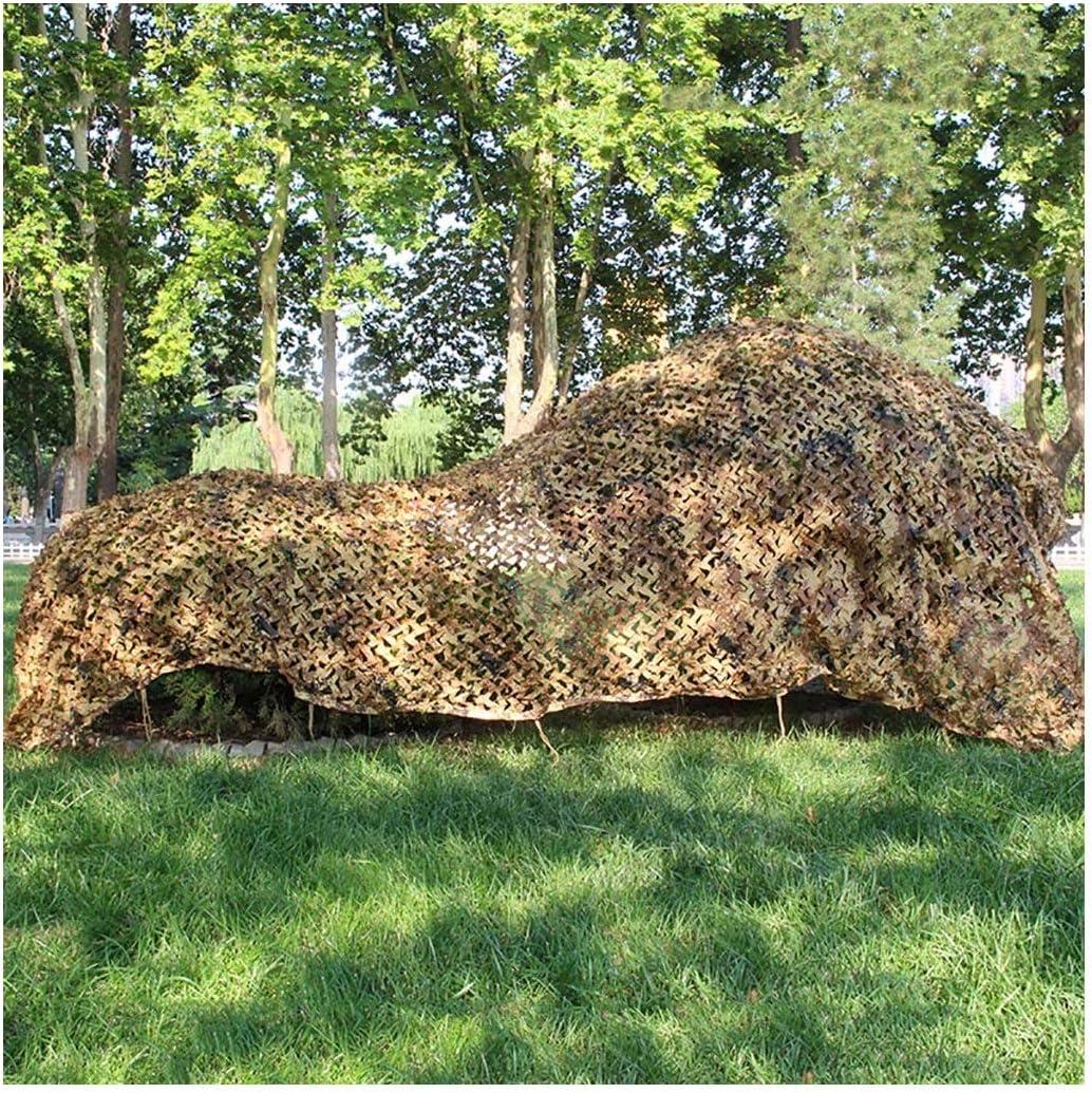 STTHOME Red de Camuflaje, Redes de Camuflaje Marrón Red de Sombrilla de Refuerzo de Jardín para El Ejército Caza Militar Campo de Tiro Sombra Camping 5x3m 3x4m 6x8m 10x10m (Size : 7x7m):