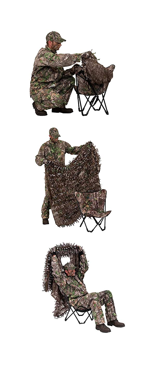 eaf583d186723 Amazon.com : Ameristep 3D Leafy Poncho, Realtree Max 4 Camouflage : Sports  & Outdoors