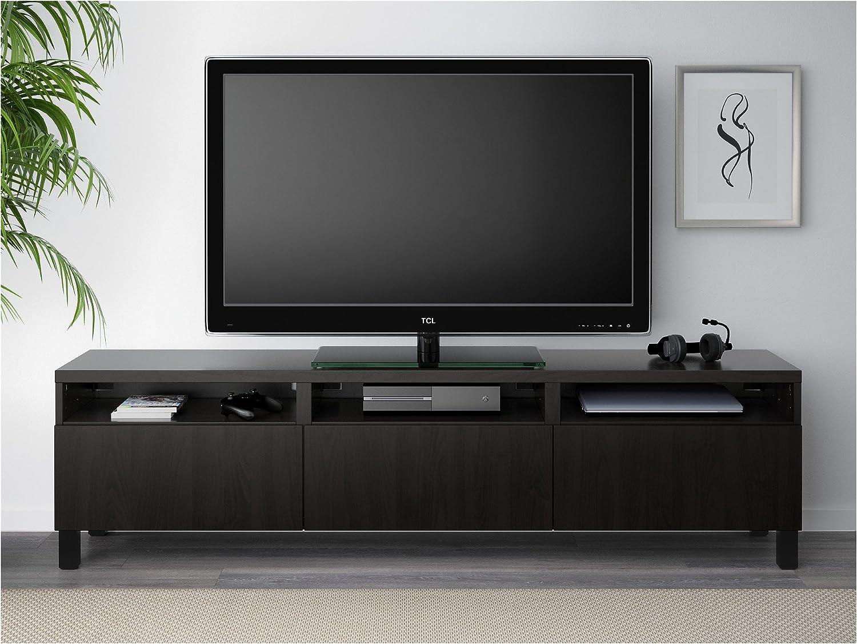 Zigzag Trading Ltd IKEA BESTA - Mueble TV con cajones Lappviken Negro-marrón: Amazon.es: Hogar