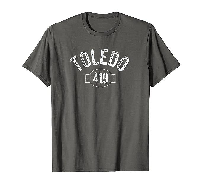 Amazon.com: Toledo 419 Código de área playera clásico Tee ...