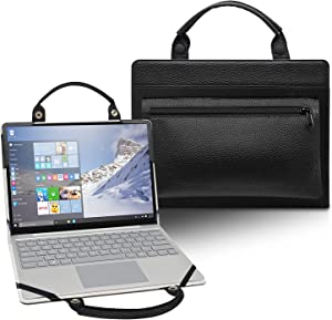 LiuShan 2 in 1 Protective Case + Portable Bag for 14 Inch Dell Latitude 5491 5490 5488 5480 e7470 e5470 & 13.3 Inch Dell Latitude 3380/Dell Chromebook 13 3380 Laptop[Not fit Latitude 5400],Black