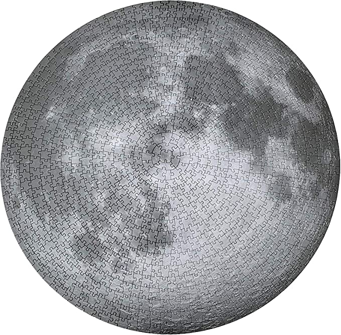Moon Phase Round Puzzle 1000 Pieces for Adults ,Challenging Difficult Puzzle,Large Jigsaw Puzzle,Brain Developing Educational Toy Gift,Lunar Eclipse Puzzle as Wall Art Home Decor 27x27 in