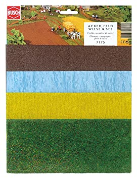 Busch - Láminas de vegetación para maquetas, hierba, trigo y ...