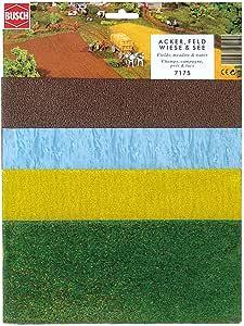 Busch - Láminas de vegetación para maquetas, hierba, trigo