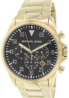 8fe0a461efb7 Michael Kors Gage Chronograph Black Dial Gold-tone Mens Watch MK8361