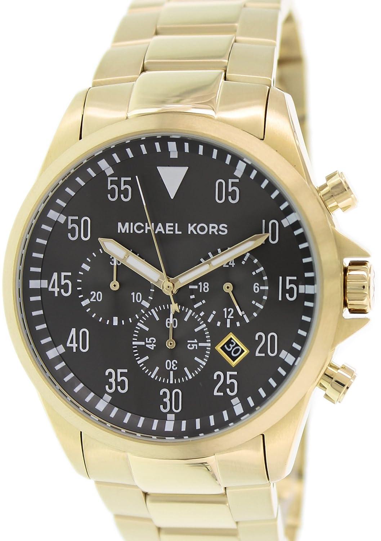 4a8698bb8e4c Amazon.com  Michael Kors Gage Chronograph Black Dial Gold-tone Mens Watch  MK8361  Michael Kors  Watches