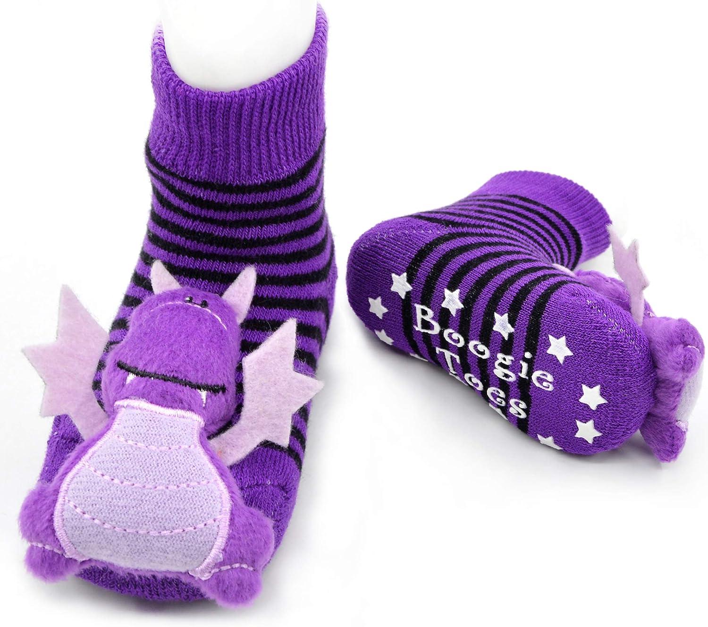 Purple Dragon Boogie Toes Rattle Socks 1 Pair