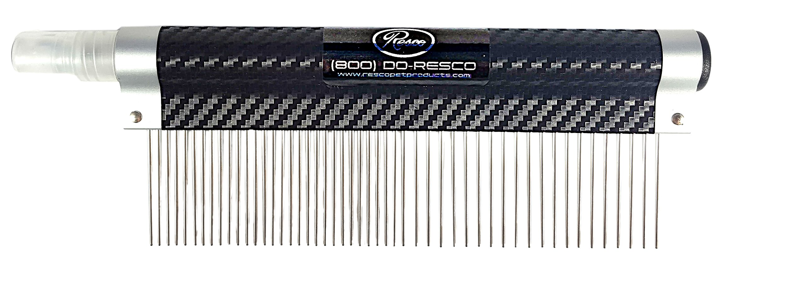 Resco USA-MADE Spritzer Comb for Pets, 1.5'' Combination, Carbon Fiber, Includes Detangler and Finishing Spray