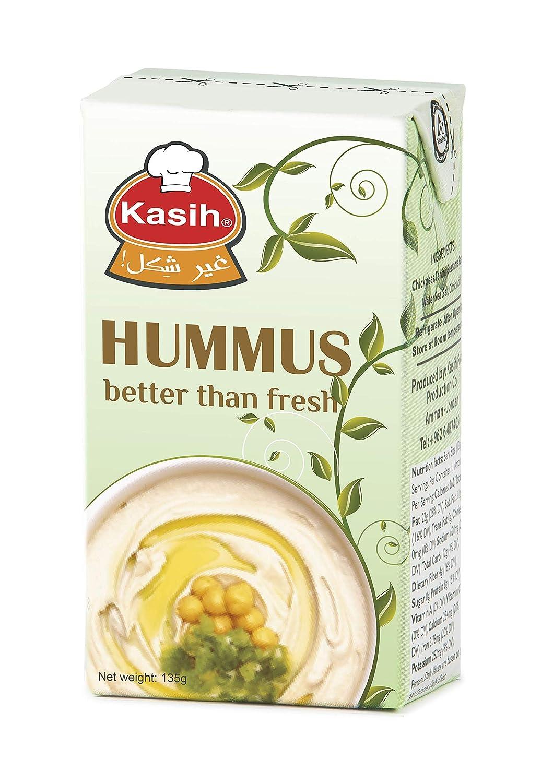 Kasih Hummus 135g (Paquete de 48) Vegano Garbanzo y Tahine ...