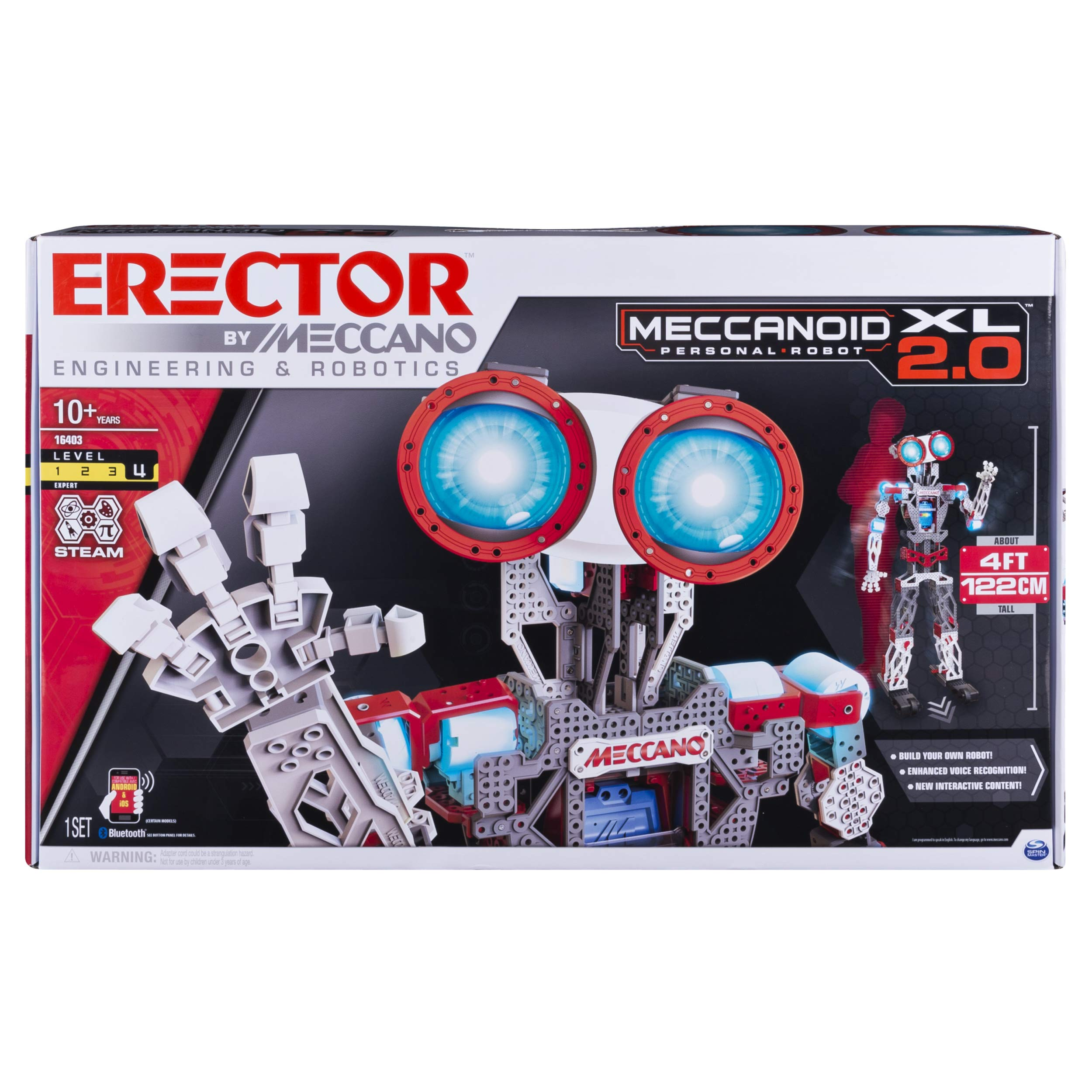 Erector by Meccano Meccanoid XL 2.0 Robot-Building Kit, STEM Education Toy for Ages 10 & Up (Amazon Exclusive) by MECCANO