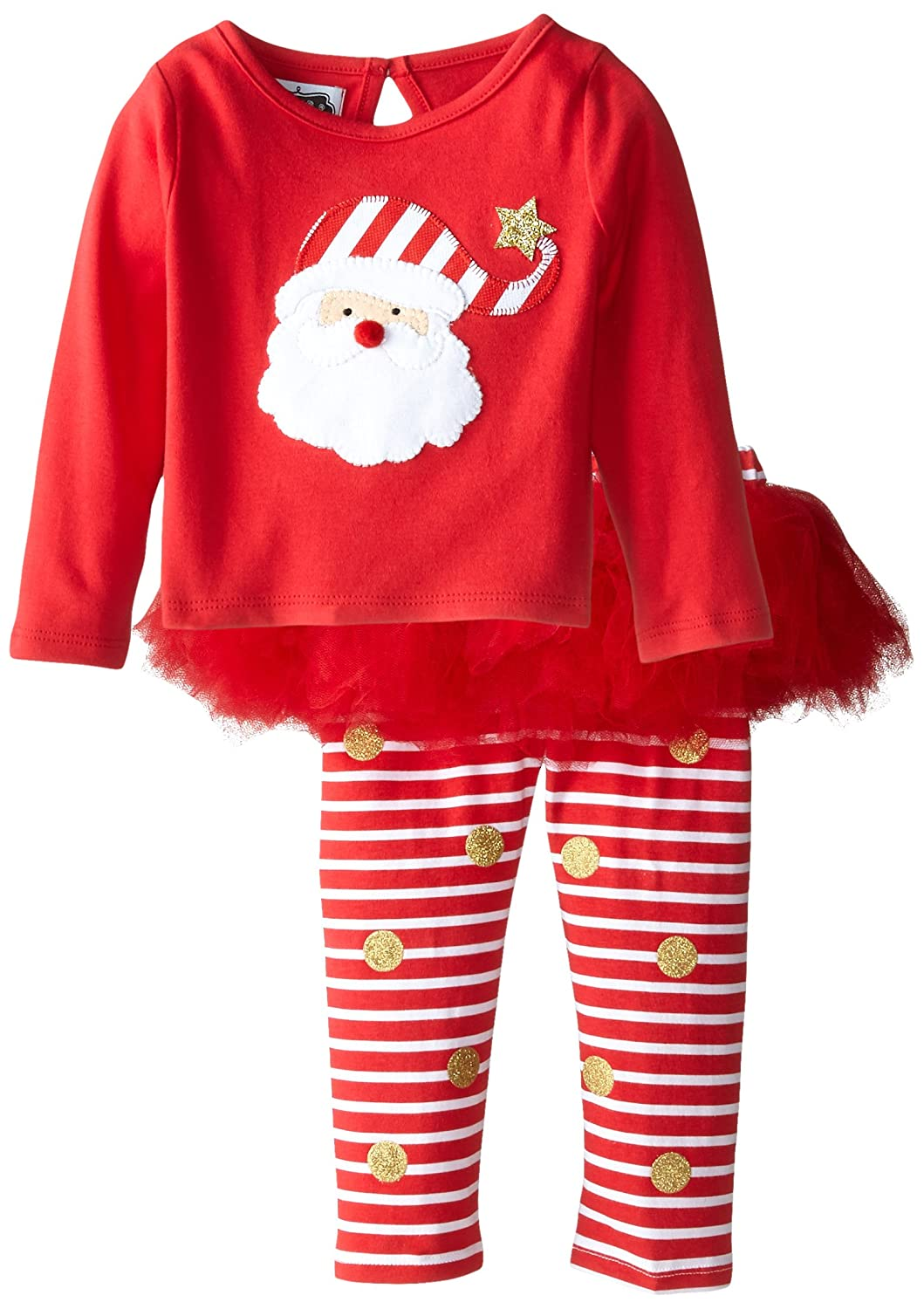 Mud Pie Baby-Girls Newborn Santa Skirt Set Red 9-12 Months 1112277