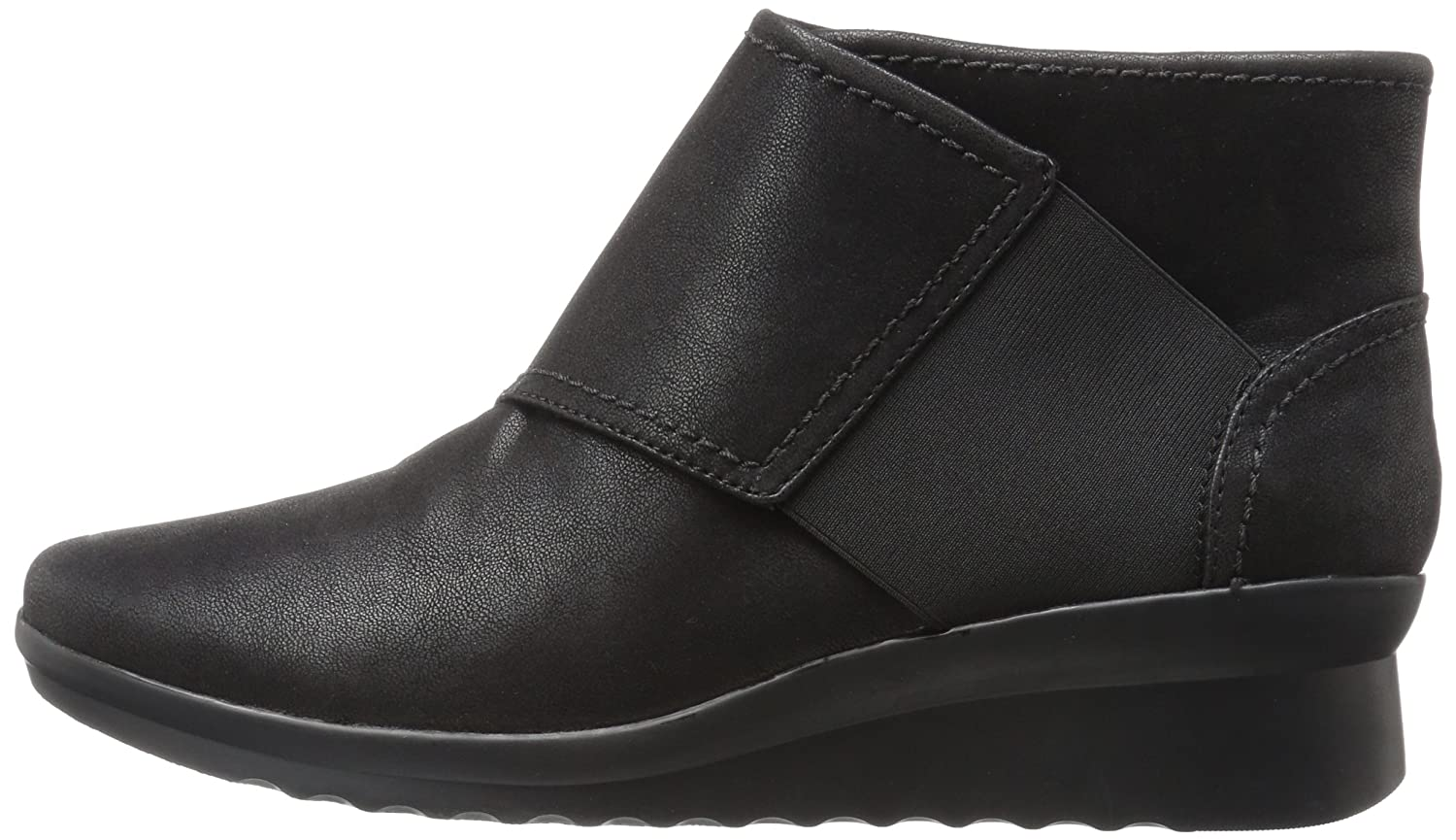 CLARKS Women's Caddell Rush Boot B01N1ZY8TL 12 W US|Black