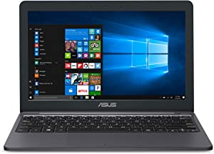 "ASUS VivoBook L203MA 11.6"" Laptop Computer, Intel Celeron N4000 up to 2.6GHz, 4GB DDR4 RAM, 64GB eMMC, WiFi, Webcam, Office 365 1-year, Online Class Ready, Windows 10 S, BROAGE 128GB SD Card+ MousePad"