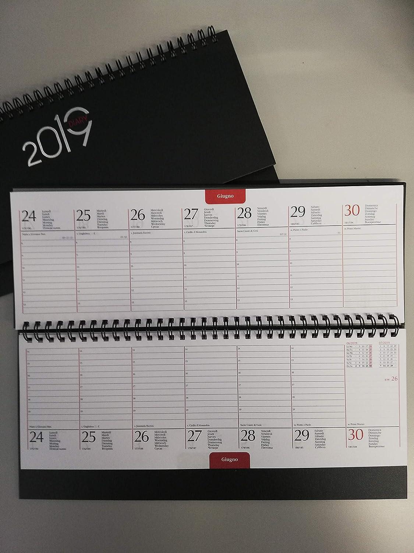Planning Agenda de mesa 2019 Semanal con Espiral 30 X 11 ...