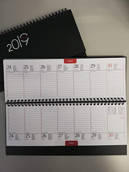 Planning Agenda de mesa 2019 Semanal con Espiral 30 X 11 Azul ...