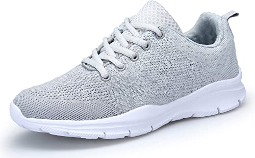KOUDYEN Chaussures de Sport Course Homme Femme Basket Lacets Fitness Confortable Sneakers Trail Running Shoes