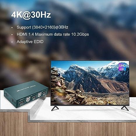UMIWE Switch HDMI Contr/ôleur de Mur Vid/éo Processeur de Commutateurs de Matrice 2x2 Prend 1x2 1x3 2x1 3x1 4x1 Convertisseurs dimage HD 1920 * 1080 /Épissage d/écran /& Adaptateur