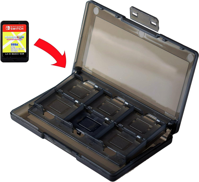 Mcbazel 12 in 1 Game Card Storage Protector Case Box para Nintendo Switch Black: Amazon.es: Videojuegos