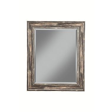 Sandberg Furniture Farmhouse Wall Mirror, Antique Black, 36  x 30