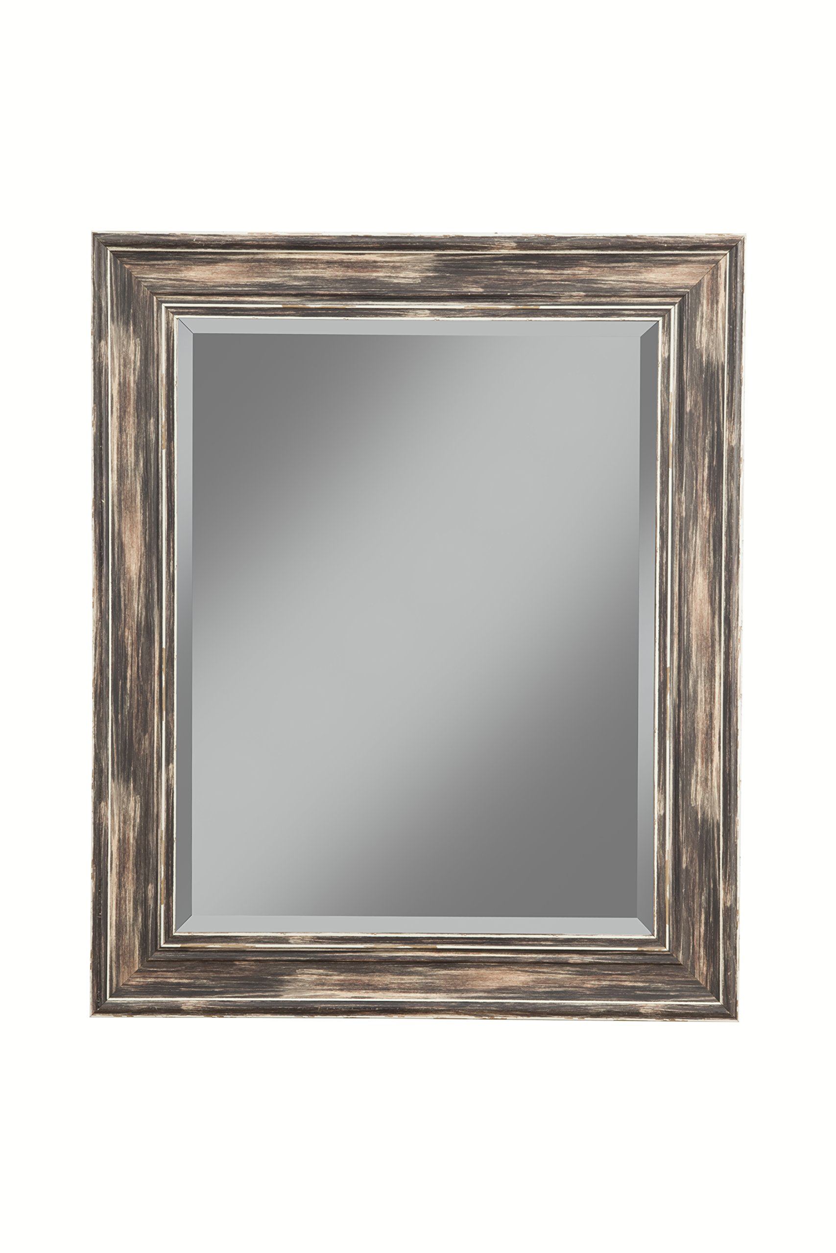 Sandberg Furniture Farmhouse Wall Mirror, Antique Black, 36'' x 30''