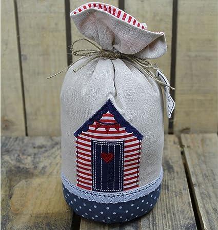 Decorativo Tela Nautical Tope de casetas de playa playa accesorio para la casa ~ rayas,
