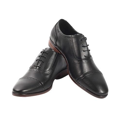 Amazon.com: Zapatos de vestir de encaje Oxford para hombre ...