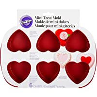 6-Piece Wilton Mini Silicone Heart Shaped Cookies & Candy Mold